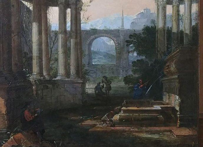 Restauration d'un Paysage avec ruines, XVIIIe siècle